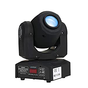 Lixada Moving Head Light Sound Control Gobo Lighting 7/10 Channels Rainbow 7 Colors and 7 pattern Changing LED Spot light for Disco KTV Club Party