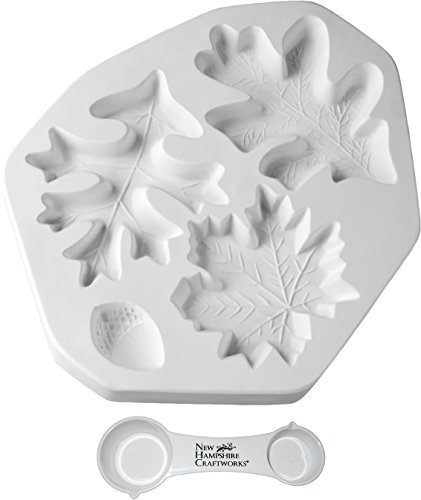 The Nature Collection - Fall Leaves - Includes Frit Measuring Spoon - Fusible Glass Frit Casting - Mold Casting Kiln