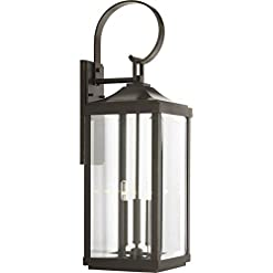 Garden and Outdoor Gibbes Street Collection Antique Bronze Three-Light Traditional Large Wall Lantern outdoor lighting