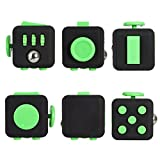 Image of Fidget Cube Relieves Stress And Anxiety for Children and Adults Anxiety Attention Toy (Black Green)