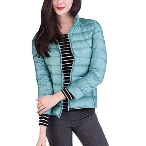 Di Packable Collo Autunno Transizione Donna Giacca Laisla Prodotto Azzurro Slim Piumini Leggero Outwear Fashion Donne Piumino Plus Lunga Classiche Invernali Coreana Manica Fit vqtAaYw