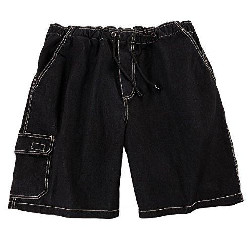 Bermuda Con Vita Jeans In Elastico Abraxas Oversize Nero 6qEnt
