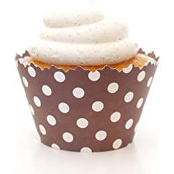 Simply Wrappers Polka Dots Cupcake Wrappers (Chocolate Brown)