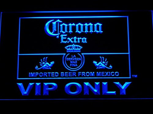 Corona Extra VIP Only Beer LED Neon Light Sign Man Cave 417-B
