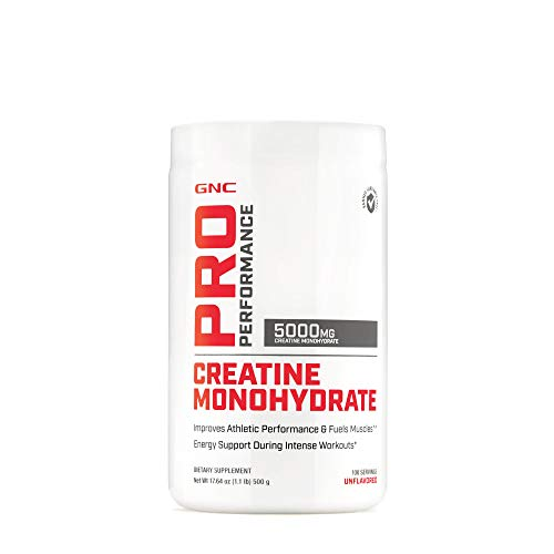 GNC Pro Performance Creatine Monohydrate - Unflavored, 100 Servings, Improves Athletic Performance