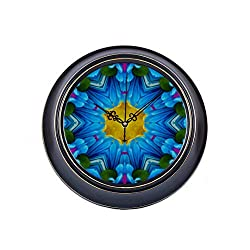 engree 14inch Large Silent Non Ticking Small Clock Home Decor Colorful Funny Beautiful Kaleidoscope Metal Office Wall Clock Quality Quartz Battery Quiet Clock for Home Decor for Home Office