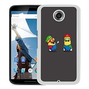 Personalized Google Nexus 6 With Funny minions White Customized Photo Design Google Nexus 6 Phone Case