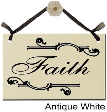 Amazon.com: faith-decorative cartel S-312, Blanco antiguo ...