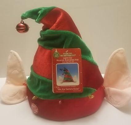 0c989e369f76e Amazon.com   Merry Brite Musical Animated Elf Hat Costume Accesories  Singing