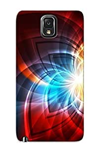 Hot Fashion COZTNIc1937QItRt Design Case Cover For Galaxy Note 3 Protective Case (design Glow Fractals Paern ) by icecream design