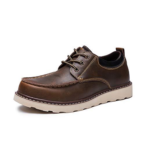 LOVDRAM Stiefel Männer Männer Schuhe Herren Freizeitschuhe Leder Große Schuhe Runde Kopf Freizeitschuhe Mode