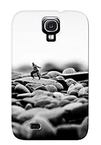 Galaxy S4 Case Slim [ultra Fit] Black People Men Funny Grayscale Monochrome Dancing Pebbles Depth Of Field Protective Case Cover