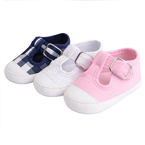Vlunt Baby Mädchen Kleinkind Schuhe Leinwand Turnschuh Weicher Netter Babyschuhe Weiß