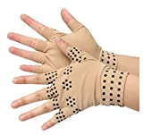 Half Finger Magnetic Joint Glove Hand Support Pain Relief Arthritis Compression by SiamsShop