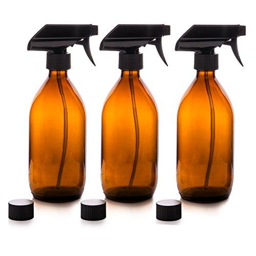 Nomara Organics Vaporizador en Botella de Cristal Ámbar Set 500 mL. Reutilizable / Eco-friendly / Orgánico / Limpieza / Plantas / Cabello / Bricolaje ...