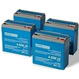 48V 20Ah 6-DZM-20 eBike Battery Set - 12V 20Ah 6-DZM-20 Batteries by UPSBatteryCenter