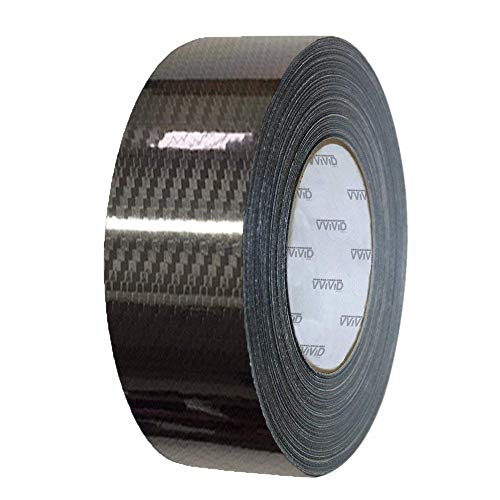 VViViD Vinyl Detailing Wrap Tape 2 Inch x 20ft DIY Roll (Epoxy Carbon Black)