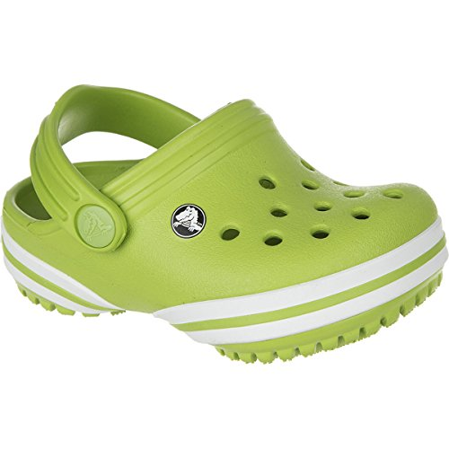Crocs Kids Unisex Crocband-X Clog (Toddler/Little Kid) Volt Green Clog/Mule 12/13 Little Kid M by Crocs