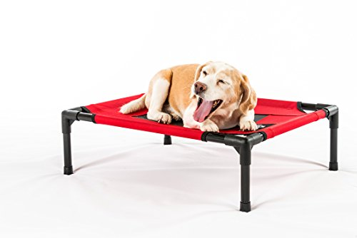 Elevated-Pet-Cot-by-2PET-Deluxe-Cooling-Elevated-Dog-Bed-Dog-Cot-that-Provides-Maximum-Comfort-Good-Sleep-Joints-Support-Insect-Relief-All-Seasons-Choose-your-size-and-color-Model-EPB06