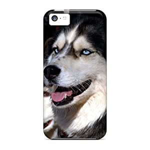 MMZ DIY PHONE CASEProtection Case For iphone 5c / Case Cover For Iphone(husky Dogs)