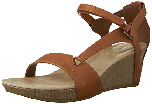 20 DECK. W Capri Wedge Capri Wedge W-W - Sandalias de cuero para mujer, color marrón, talla 37 Marrón (Marron (Toffee))