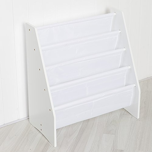 Children's Sling Storage Bookcase in White