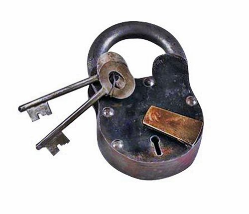 Small Cast Iron Lever Lock Padlock with Keys Pirate Chest, Model: 1103, Tools & Hardware (Tools And Hardware)