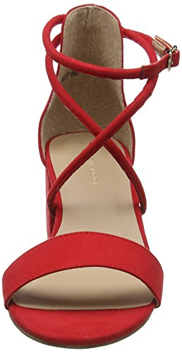 New Look Women's Salamanca Ankle Strap Heels Red (Bright Red 60) kPaiOV2q