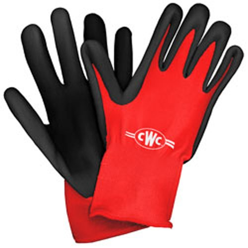 CWC ProTACT Crinkle Latex Palm Dipped Gloves, XL (Pack of 12 pairs)
