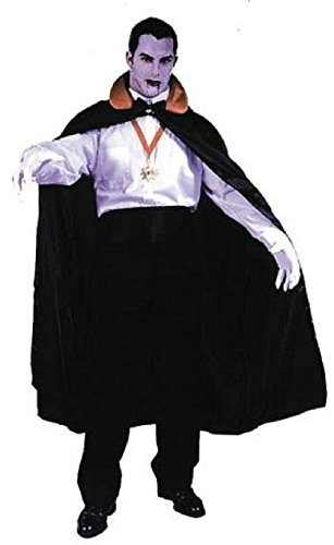 56 Satin Cape Costumes (56'' Count Cape Full-cut Taffeta Cape with Foam Filled Stand-up Red Satin Collar)