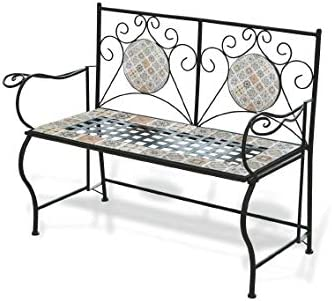 Galileo Casa Rodi Panchina Mosaico 123x53x91cm Nero Amazon It