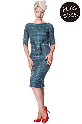 Size Dress 4XL Bordeaux Vintage Carlita Retro Sheath Plus Banned gpFPqwO