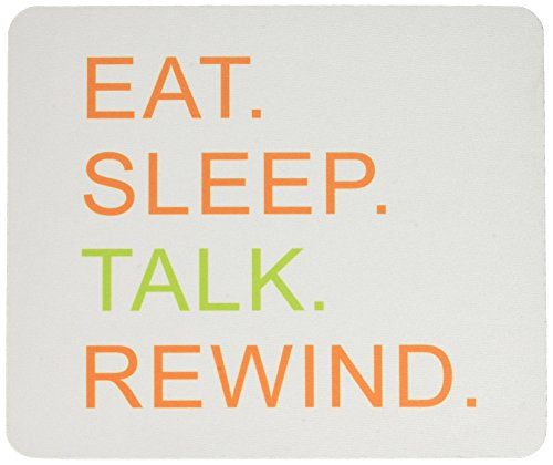 Rikki Knight Eat Sleep Talk Rewind Orange and Green Design Lightning Series Gaming Mouse Pad (41200 Series)