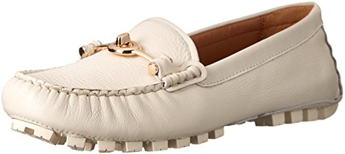 COACH Women's Arlene Chalk Pebble Grain Leather Flat by Coach