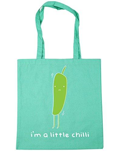 HippoWarehouse I'm A Little Chilli Tote Shopping Gym Beach Bag 42cm x38cm, 10 litres Mint
