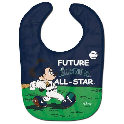 Seattle Mariners Mickey Mouse Future All Star All Pro Baby Bib