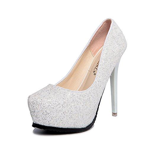 GTVERNH-Damen damen Pumps Bei Heels Sommer Gut Bei Pumps Fuß 12Cm Schuhe Kleider Abdichtung Fisch Münder Und Sandalen 8ac265