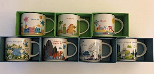- Set of 7: Disney's Animal Kingdom, Magic Kingdom, EPCOT 2, Hollywood Studios, Orlando, Florida and Miami You Are Here 14 Oz. Starbucks Mugs