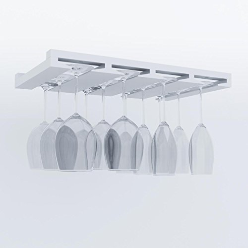 Artifact-DesignWine-Glass-Rack-Makes-Dull-Kitchens-or-Bar-Looks-Great-Perfectly-Fits-6-12-Glasses-Under-Cabinet-Easy-to-Install-with-Included-Screws-Great-Hanging-Bar-Glass-Rack-White