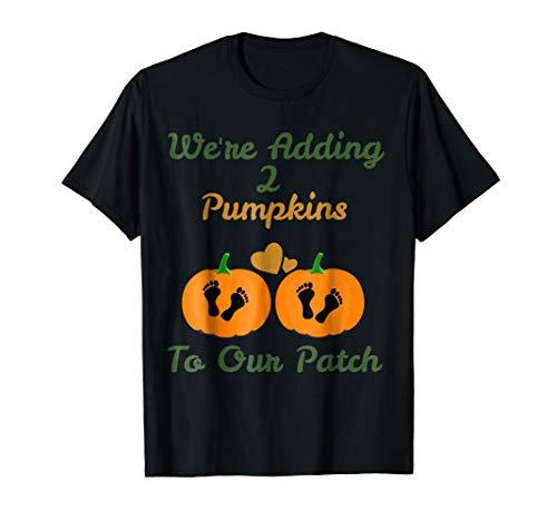 Twins Halloween Pregnancy Shirt For Twins Pumpkin Patch ()