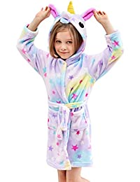 324d1ea4cc Soft Unicorn Hooded Bathrobe Sleepwear - Unicorn Gifts for Girls