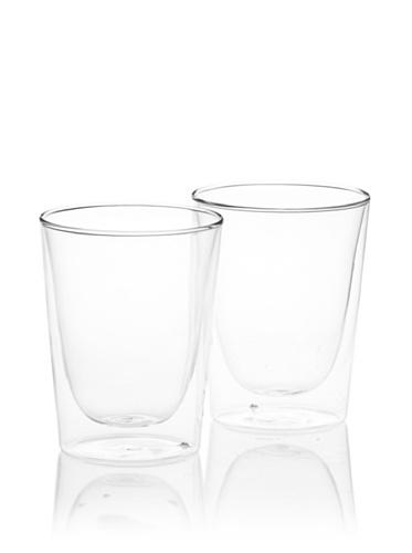 (Luigi Bormioli Set of 2 Duos Double-Wall Old Fashioned Glasses, 10 oz.)