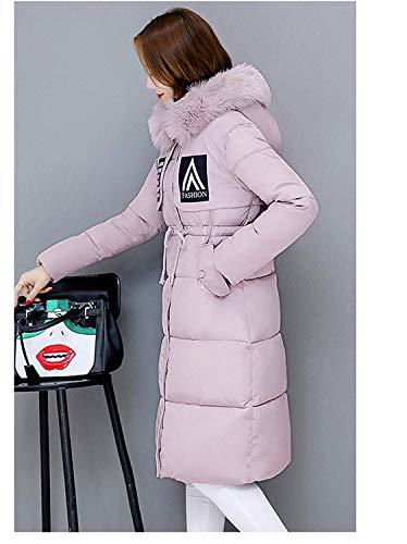 Cappotti Manica Giovane Anteriori Cerniera Giacca Vento Moda Donna Cappuccio Con Solidi Tasche Coulisse Pink Colori Elegante Lunga Comodo Piumini Abbigliamento Invernali WnPPST