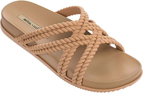 Cosmic Slide (ILHABELA HOLDINGS INC. Melissa Womens Cosmic and Salinas Slide Sandal Light Brown Size 10)