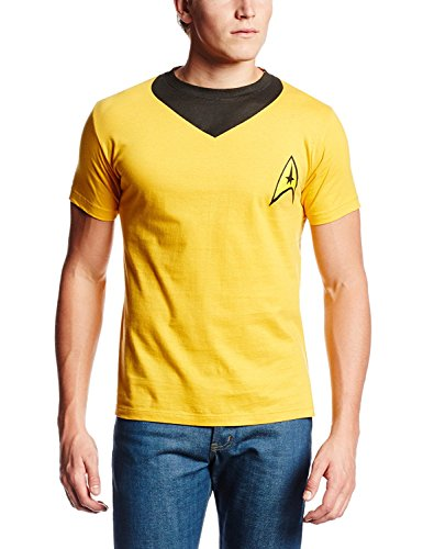 [Hybrid Men's Star Trek Kirk Uniform T-Shirt XXXL 3XL] (Star Trek Uniform Shirts)