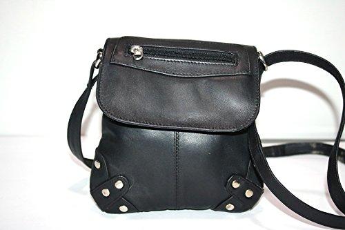 Body Small Shoulder Soft Cross Bag Ladies Leather Black Genuine Gents RHqUxpq