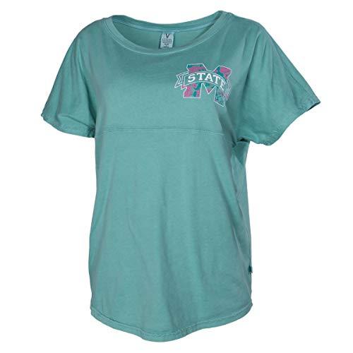 Official NCAA Mississippi State University Bulldogs HAIL STATE BULLY Women's Short Sleeve Spirit Wear Jersey T-Shirt (University Mississippi State Alumni)