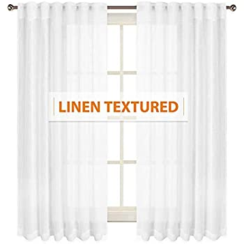 Amazon Com Privacy Semi Sheer Curtains For Bedroom Casual