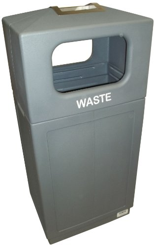 Forte Products 8002156 Hooded Top Waste Can with Ashtray, 21.5