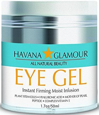 Havana Glamour Eye Gel Instant Firming Moist Infusion - New Cutting Edge Formula With Blue Multivitamins For Puffy Eyes, Wrinkles, and Dark Circles! - 1.7 fl oz/50 ml
